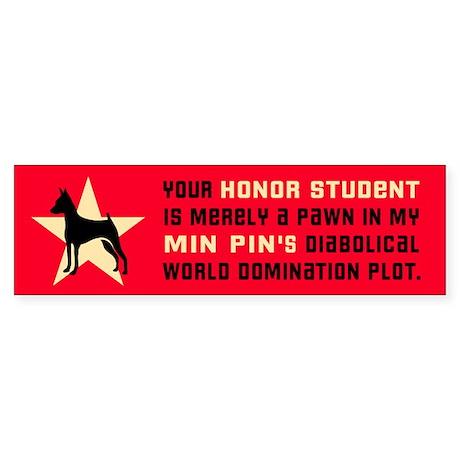 Min Pin World Domination Bumper Sticker