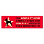 Min Pin World Domination Bumper Sticker