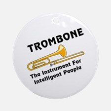 Trombone Genius Ornament (Round)