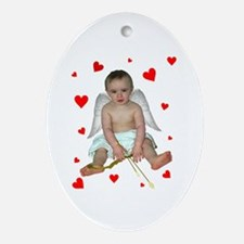 Little Cupid Oval Ornament