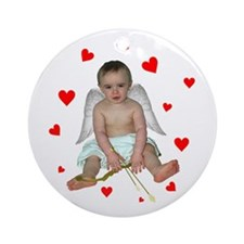 Little Cupid Ornament (Round)