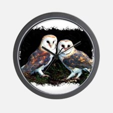 Funny Eagle owl Wall Clock
