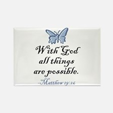Matthew 19:26 Rectangle Magnet