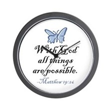 Matthew 19:26 Wall Clock