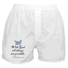 Matthew 19:26 Boxer Shorts