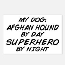 Afghan Hound Superhero Postcards (Package of 8)