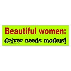 Beautiful Women Bumper Bumper Sticker