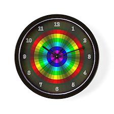Rainbow Illusion Wall Clock