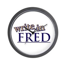 Write-In FRED Wall Clock