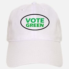 Vote Green Oval Baseball Baseball Cap