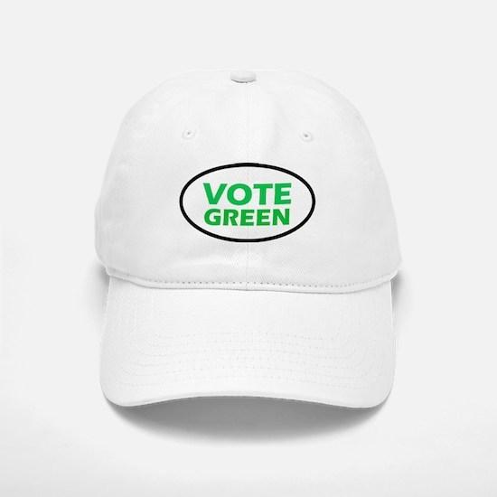 Vote Green Oval Baseball Baseball Cap