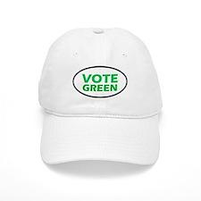 Vote Green Oval Baseball Cap
