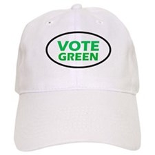 Vote Green Oval Cap