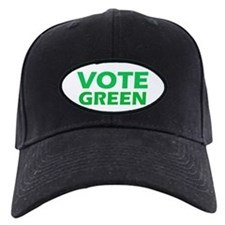 Vote Green Oval Baseball Hat