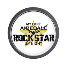 Airedale Rock Star by Night Wall Clock