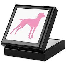 Pink Vizsla Dog Keepsake Box