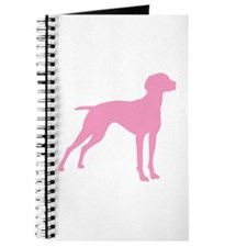 Pink Vizsla Dog Journal