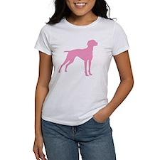 Pink Vizsla Dog Tee