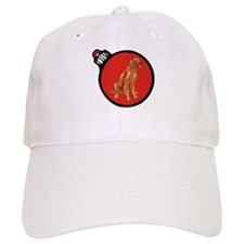 Red Irish Setter Christmas Baseball Cap