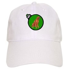 Green Irish Setter Christmas Baseball Cap