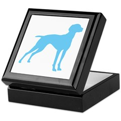 Blue Vizsla Dog Keepsake Box