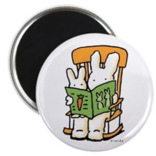 reading bunnies magnet