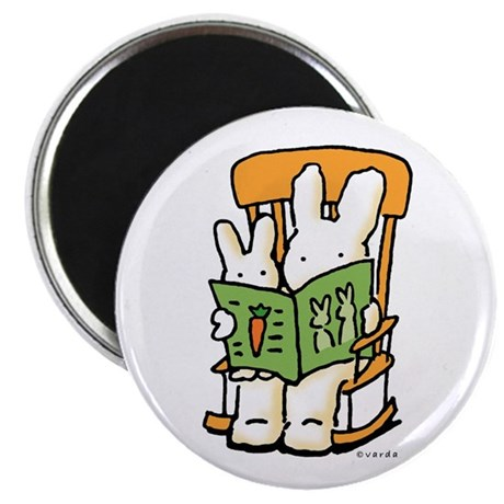 reading bunnies magnet