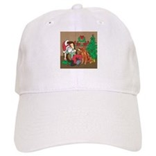 Santa Has An Irish Setter Christmas Baseball Cap