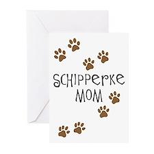 Schipperke Mom Greeting Cards (Pk of 10)