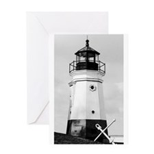 Vermillion Lighthouse Greeting Card