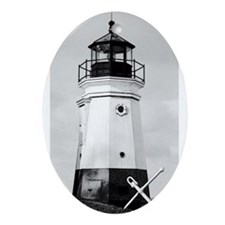 Vermillion Lighthouse Oval Ornament