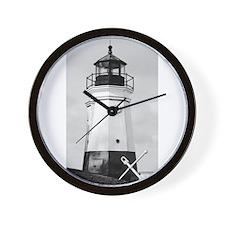 Vermillion Lighthouse Wall Clock