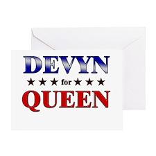 DEVYN for queen Greeting Card