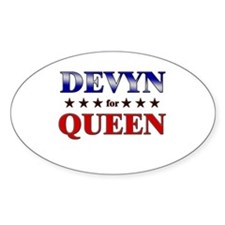 DEVYN for queen Oval Decal