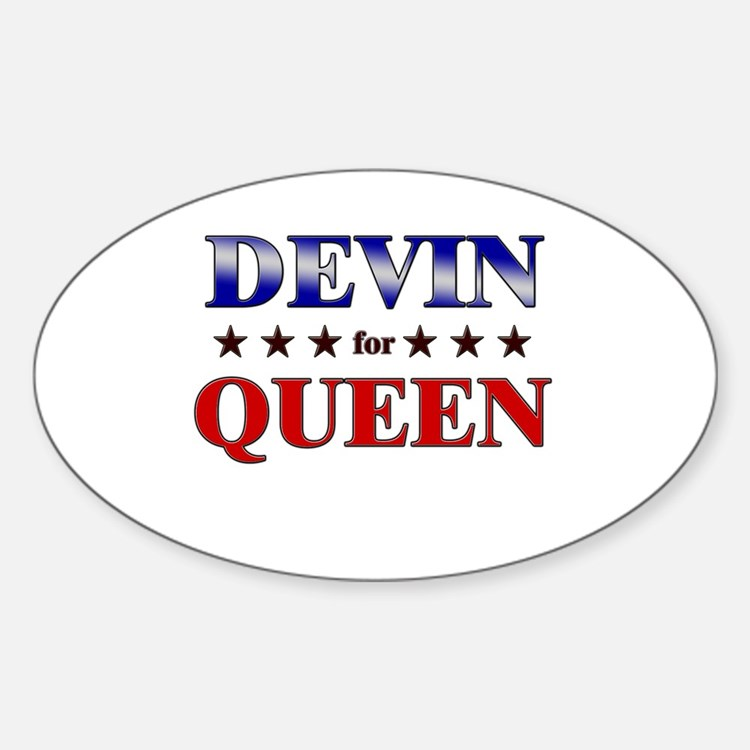 DEVIN for queen Oval Decal