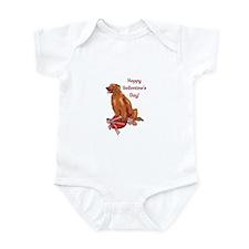 Happy Valentine's Day Irish Setter Infant Bodysuit