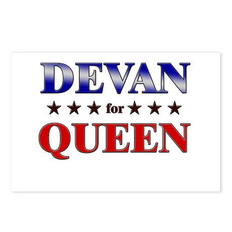 DEVAN for queen Postcards (Package of 8)