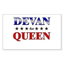 DEVAN for queen Rectangle Decal