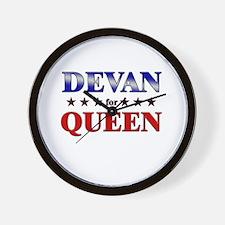 DEVAN for queen Wall Clock