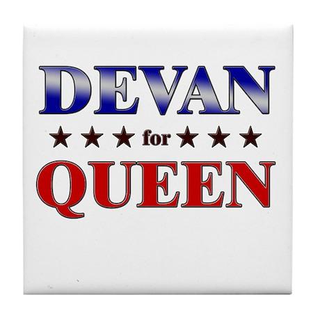 DEVAN for queen Tile Coaster