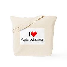 """""""I Love (Heart) Aphrodisiacs"""" Tote Bag"""