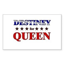 DESTINEY for queen Rectangle Decal