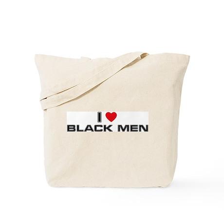 I Love Black Men Tote Bag