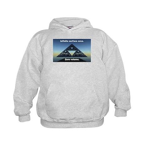 Sierpinski Triangle Kids Hoodie