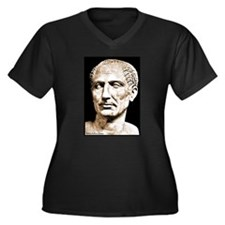 "Faces ""Julius Caesar"" Women's Plus Size V-Neck Dar"
