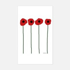 Poppies Sticker (Rectangle)