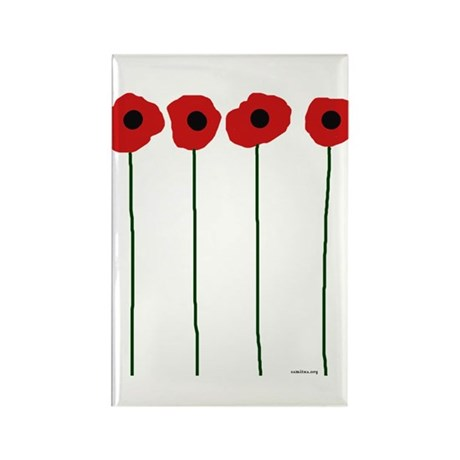 Poppies Rectangle Magnet (100 pack)