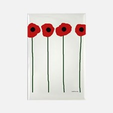 Poppies Rectangle Magnet