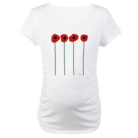 Poppies Maternity T-Shirt