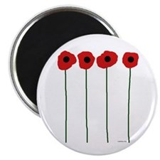 """Poppies 2.25"""" Magnet (10 pack)"""